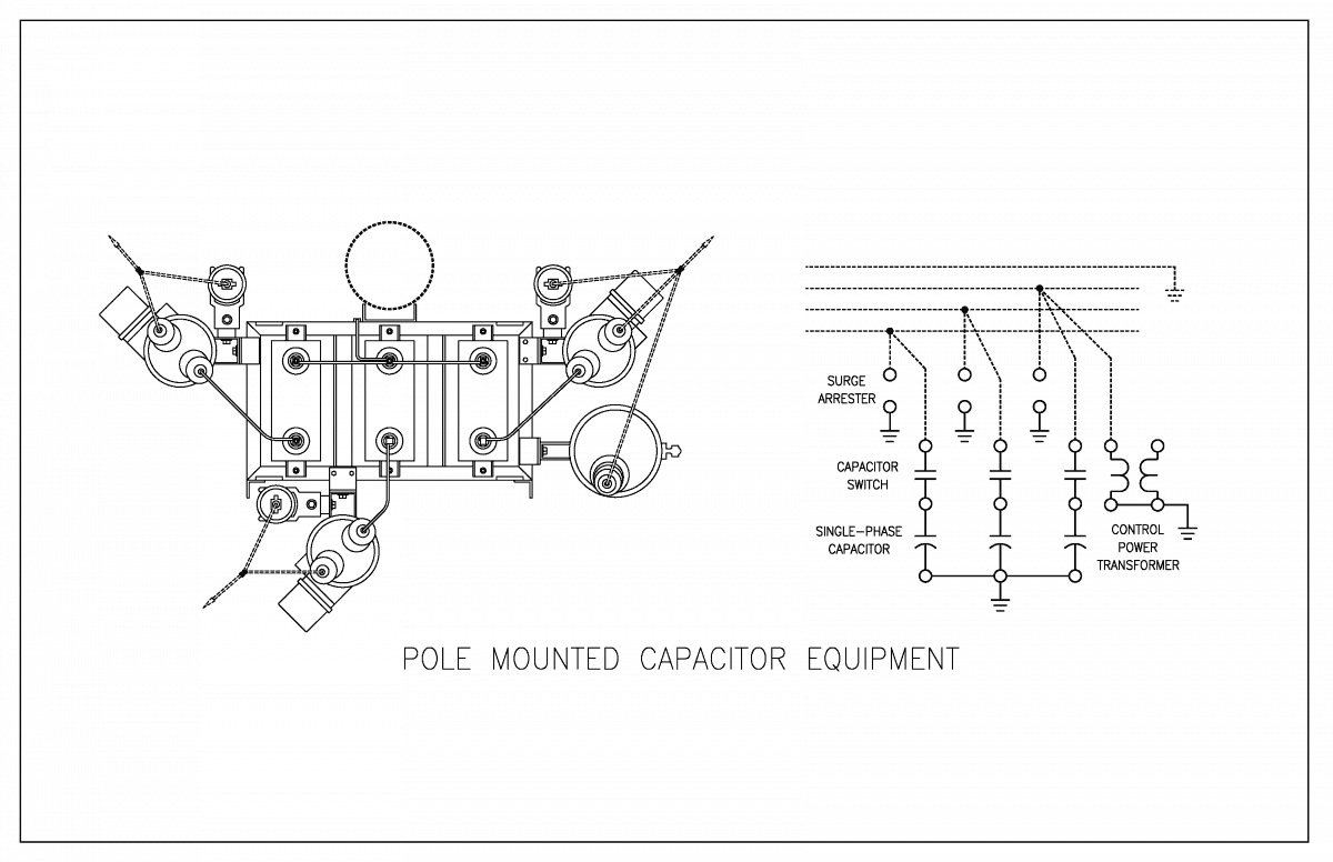 medium voltage pole mounted capacitor equipment